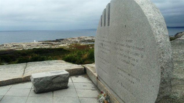 Monumento conmemorativo dedicado a las víctimas del vuelo 111 de Swissair, que se estrelló cerca de Peggy's Cove, en Nueva Escocia, hace 20 años.