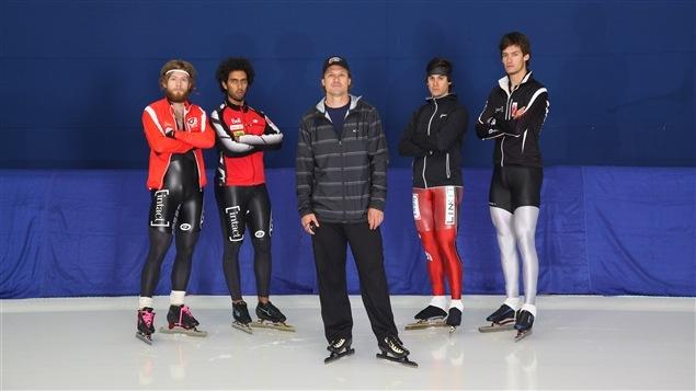 Laurent Dubreuil, Muncef Ouardi, Gregor Jelonek (entraîneur), Guillaume Blais-Dufour et François Déry