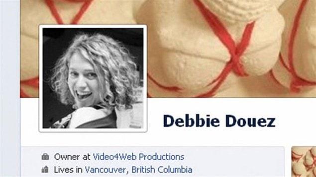 La photo de Debbie Douez, de Colombie-Britannique, comme elle apparaissait sur le site Facebook le 2 avril 2012.