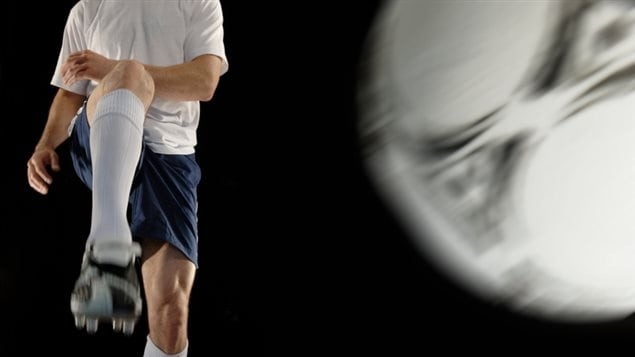 Un enfant et le soccer