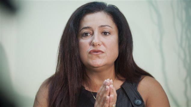 La députée fédérale Maria Mourani réagissant à son expulsion du caucus du Bloc québécois