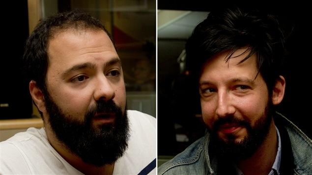Les comédiens et auteurs Mani Souleymanlou et Emmanuel Schwartz.