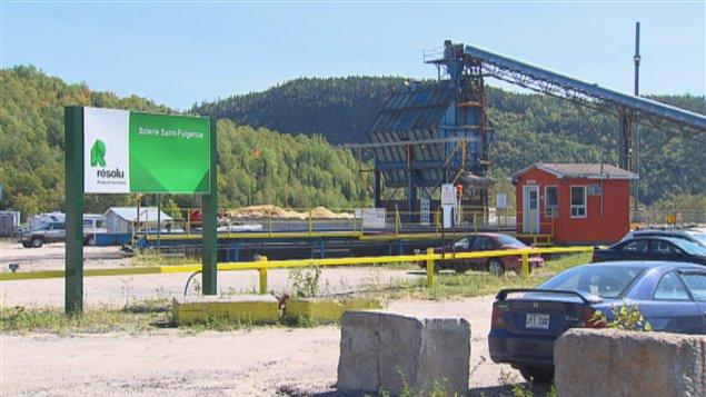La scierie Saint-Fulgence de Produits forestiers Résolu