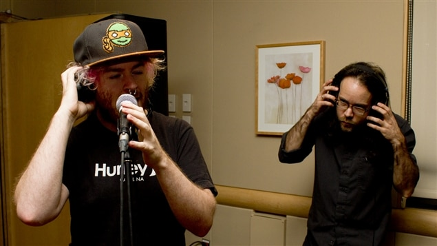 Karl Gagnon et Sylvain Deschamps du groupe VioleTT Pi.