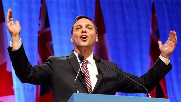 Tim Hudak, lors du congrès des conservateurs à London