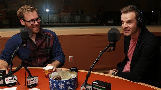 Jonathan Lemieux, Stéphane Leclair et au milieu le croustillant au chocolat