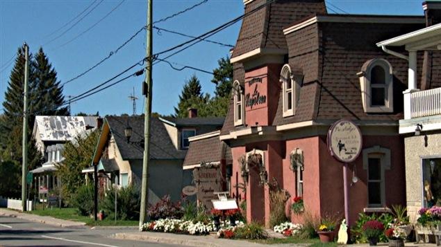 Une rue de Montebello, en Outaouais.