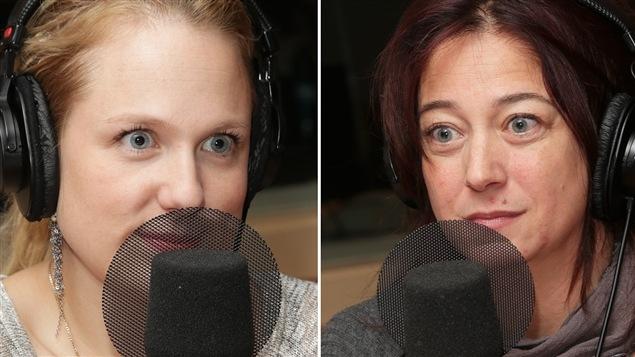 Les comédiennes Marie-Soleil Dion et Marie-Josée Bastien.