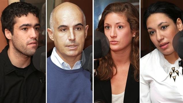 Noah Margo-Dermer, Frédéric Fovet, Caroline Lucas-Conwell et Marcelle Partouche.