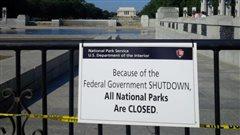 Plusieurs places publiques sont fermées en raison de l'impasse budgétaire aux États-Unis.