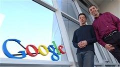 Les fondateurs de Google, Larry Page et Sergey Brin, en 2004