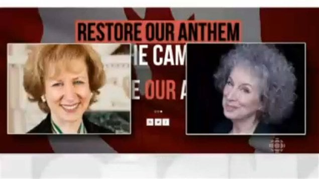 Former Canadian Prime Minister Kim Campbell, and novelist Margaret Atwood are leading a group to change the lyrics of  O Canada, to be gender-neutral.