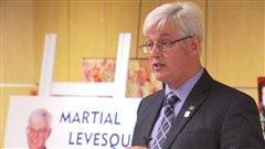 Le candidat à la mairie Martial Lévesque