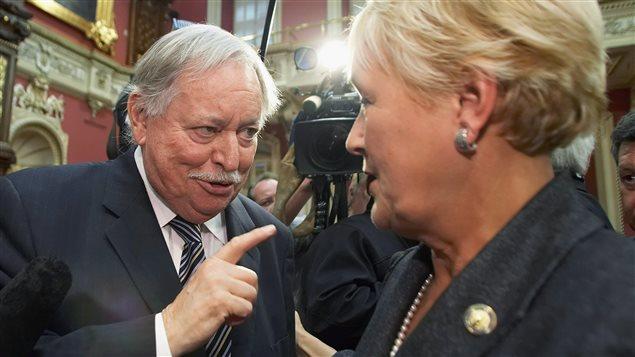 Jacques Parizeau et Pauline Marois, le 11 octobre 2007