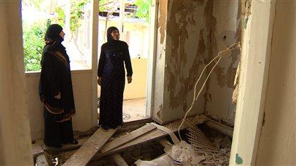 Maison détruite par les forces de l'ordre russes au Daguestan