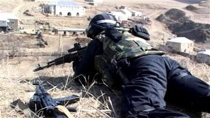 Un soldat russe au Daguestan