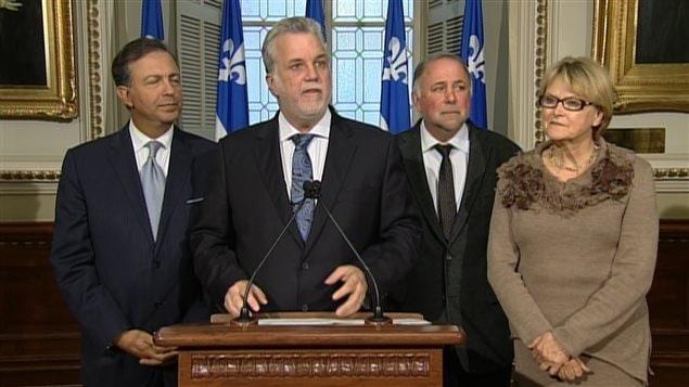 Le chef libéral Philippe Couillard