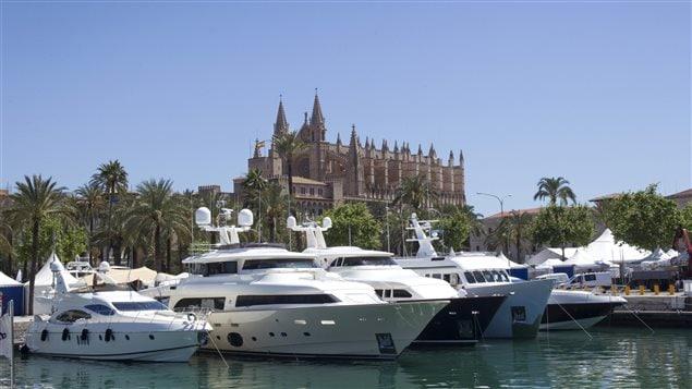 Des bateaux au port de Palma de Majorque, en Espagne
