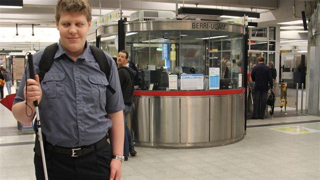 Alexandre Bellemare à la station Berri-UQAM