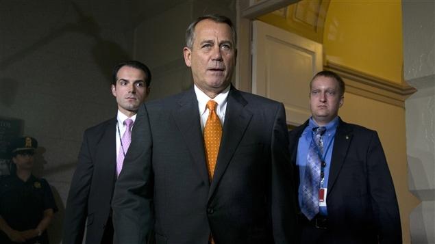 Le pr�sident de la Chambre des repr�sentants, John Boehner