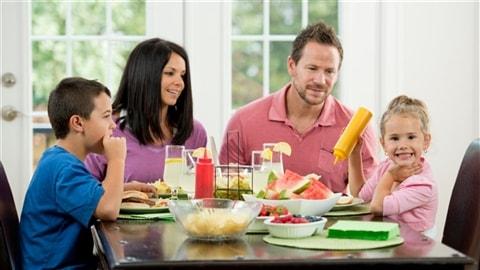 Un repas en famille.