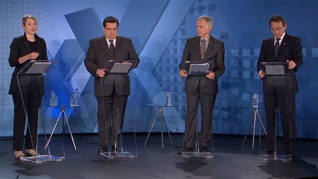 Les quatre candidats à la mairie de Montréal invités au débat organisé par la Chambre de commerce de Montréal.