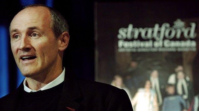 L'acteur Colm Feore, lors de la conférence de presse du Festival de Stratford en avril 2006.