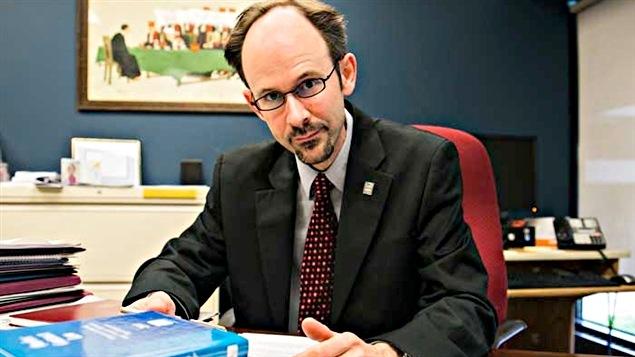 Sébastien Grammond, doyen de la Section de droit civil à la Faculté de droit de l'Université d'Ottawa