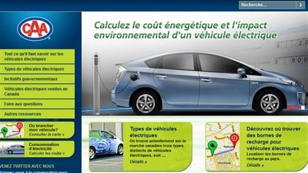 L'Association canadienne des automobilistes (CAA) à lancé en janvier 2013 un portail sur les voitures électriques dans le but de pallier le manque de renseignements qui rendent les Canadiennes et Canadiens quelque peu « frileux » face à l'achat d'un véhicule électrique : electricvehicles.caa.ca/fr/