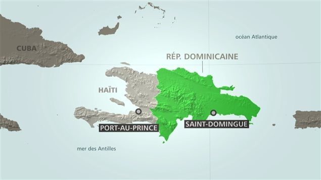 Carte d'Haïti et de la République dominicaine