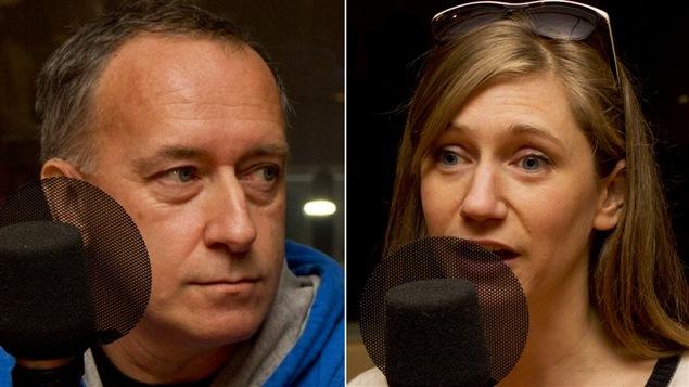 Yves Otis, cofondateur d'Ecto, et Jasmine Catudal, initiatrice du Plancher de l'Usine C.