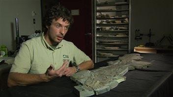 Olivier Matton et le fossile d'Elpistostege