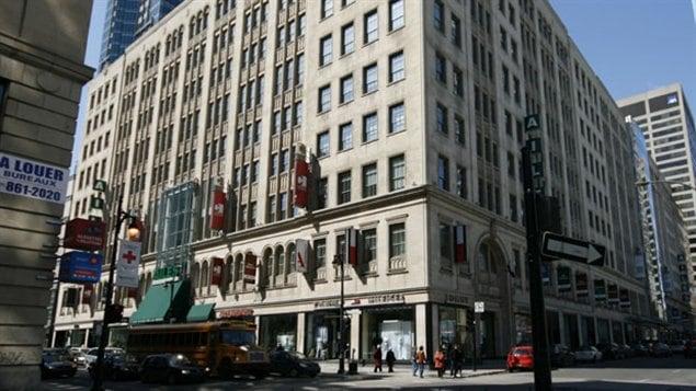 L'ancien édifice Eaton à Montréal racheté en 1999 par SEARS.