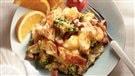 Strata au brocoli, jambon et cheddar