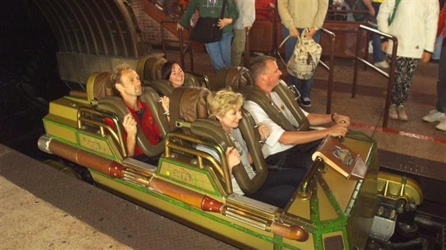 Un wagon du Space mountain de Disneyland Paris