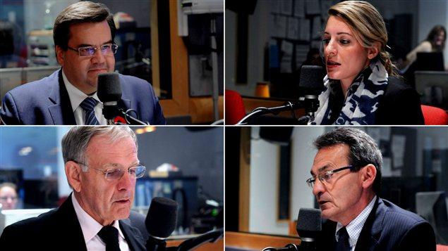Denis Coderre, Mélanie Joly, Marcel Côté et Richard Bergeron