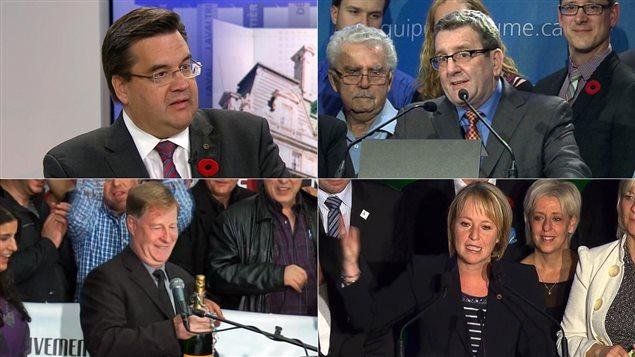 Denis Coderre, Régis Labeaume, Marc Demers et Caroline St-Hilaire