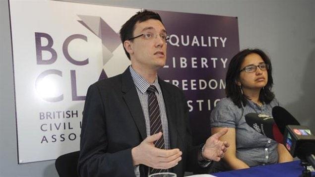 Josh Paterson de l'Association des libertés civiles de la Colombie-Britannique.