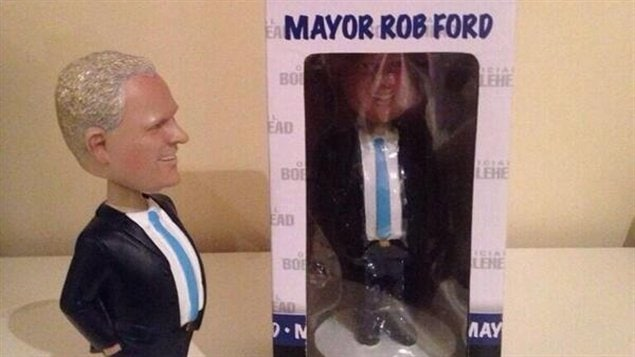 Les figurines du maire Rob Ford.