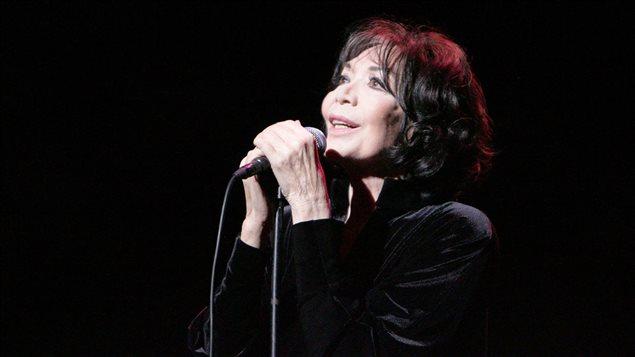 La chanteuse Juliette Gréco