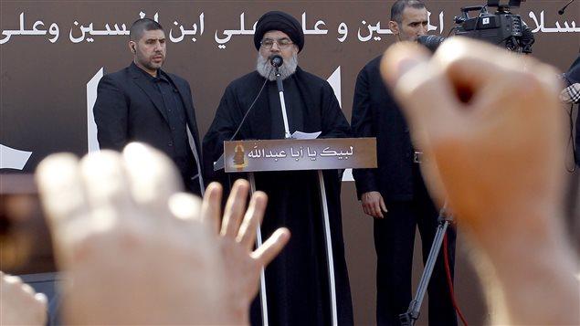 Le chef de file du Hezbollah, Hassan Nasrallah, a prononcé un discours jeudi devant plusieurs dizaines de milliers de chiites libanais.