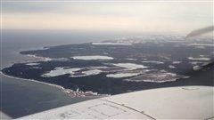 L'île d'Anticosti vue des airs