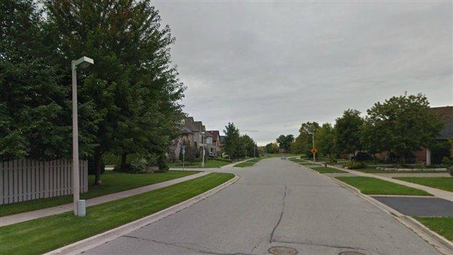 La rue Oak Spring à Oakville