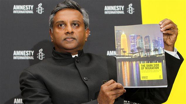 Le secrétaire général d'Amnistie internationale, Salil Shetty