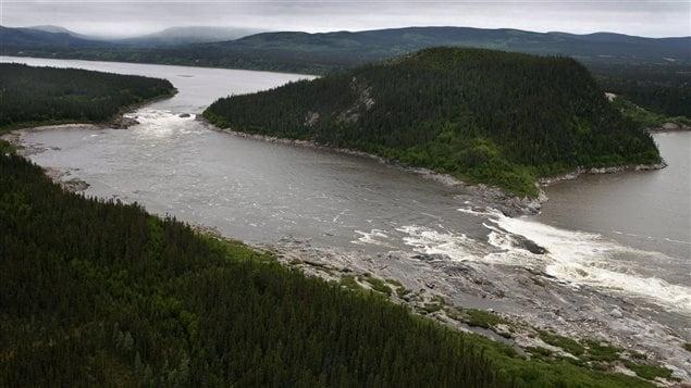 Muskrat Falls, sur la rivière Churchill au Labrador