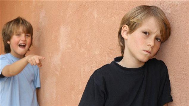Une scène d'intimidation entre des enfants