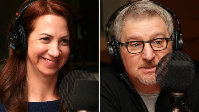 Les comédiens Mélanie Maynard et Benoît Brière.