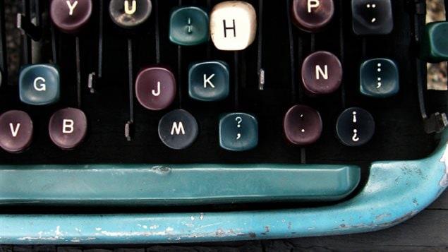 Vieux clavier d'une machine à écrire
