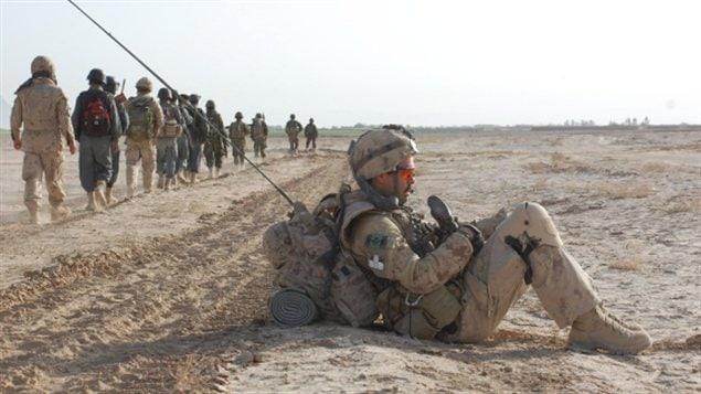 Des militaires canadiens en mission de combat
