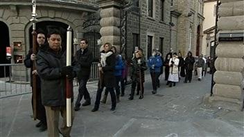 Cérémonie d'inauguration de la porte sainte à la basilique-cathédrale Notre-Dame-de-Québec